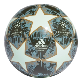 Adidas Finale 18 Capitano Soccer Ball (Clear Mint/Legend Ink/Sesame/Ash Green)