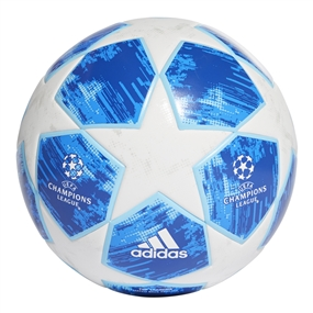 Adidas Finale 18 Top Training Soccer Ball (White/Football Blue/Bright Cyan/Collegiate Royal)