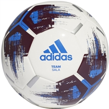 Adidas Team Sala Futsal Ball (White/Maroon/Blue/Silver Metallic)