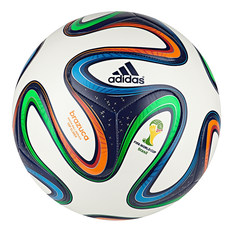 1d7e1e21c9 Adidas Brazuca Top Glider Soccer Ball (White Night Blue Multi ...