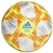 Adidas CONEXT 19 Top Capitano Soccer Ball (White/Solar Yellow/Solar Red/Football Blue)