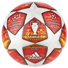 Adidas Finale Madrid Official Match Ball (White/Active Red/Scarlet/Solar Red)