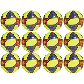 Adidas 2019 MLS Capitano Soccer Ball 12 Pack (Solar Yellow/Black/Football Blue)