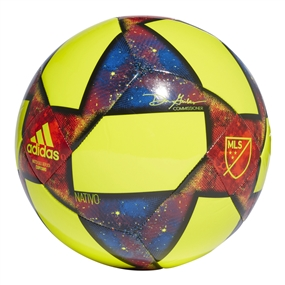 Adidas 2019 MLS Capitano Soccer Ball (Solar Yellow/Black/Football Blue)
