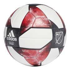 Adidas NFHS 2019 MLS Top Training Soccer Ball (White/Black/Active Red)