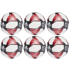 Adidas NFHS 2019 MLS Top Training Soccer Ball 6 Pack (White/Black/Active Red)