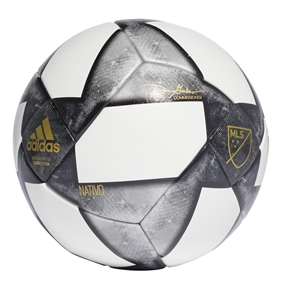Adidas NFHS 2019 MLS Competition Soccer Ball (White/Black/Matte Gold)