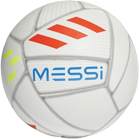 Adidas Messi Capitano Soccer Ball (White/Crystal White/Football Blue/Solar Red)