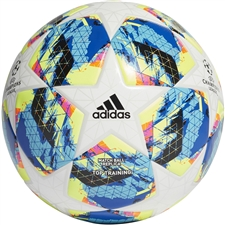 Adidas Finale Top Training Soccer Ball (White/Bright Cyan/Solar Yellow/Shock Pink)