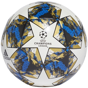 Adidas Finale 19 Capitano Soccer Ball (White/Football Blue/Black/Gold Metallic)