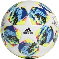 Adidas Finale Mini Soccer Ball (White/Bright Cyan/Solar Yellow/Shock Pink)