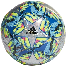 Adidas Finale Top Capitano Soccer Ball (Multicolor/Bright Cyan/Solar Yellow/Shock Pink)