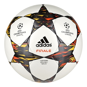 Adidas Finale 14 Capitano Soccer Ball (White/Solar Red/Solar Gold)