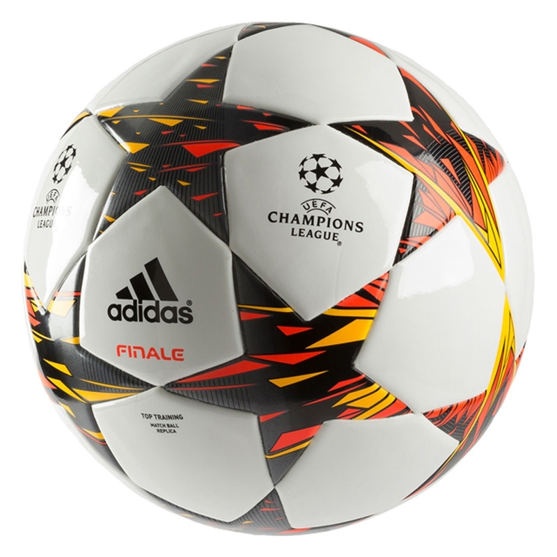 Adidas Finale 14 Top Training Soccer Ball (White  Solar Red  Solar Gold) f84b4b7bb4e24