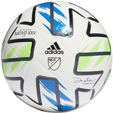 Adidas MLS Club Soccer Ball 2020 (White/Solar Green/Glory Blue/Black)