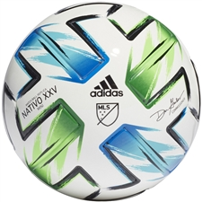 Adidas MLS Mini Soccer Ball 2020 (White/Samba Blue/Solar Green/Silver Metallic)