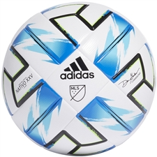 Adidas MLS NFHS League Soccer Ball 2020 (White/Samba Blue/Solar Green/Black)