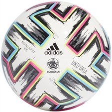 Adidas Uniforia Pro Euro 2020 Mini Soccer Ball (White/Black/Signal Green/Bright Cyan)