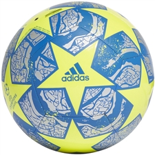 Adidas Finale Istanbul Club Soccer Ball (Solar Yellow/Silver Metallic/Glory Blue)