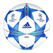 Adidas Finale 2015 Official Champions League Match Soccer Ball (White/Bright Cyan/Bright Blue)