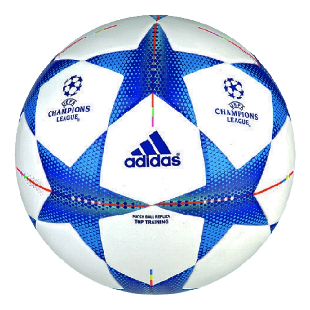 finest selection c2751 26adf Adidas Finale 2015 Top Training Soccer Ball (White Bright Cyan Bright Blue)
