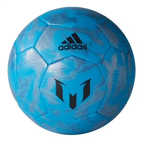 Adidas Messi Soccer Ball (Solar Blue/Night Grey/Silver Metallic)