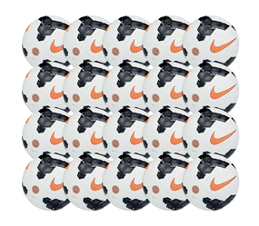 Nike Club Team Soccer Ball 20 Pack (White/Black/Total Orange)