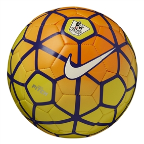 Nike Pitch EPL Soccer Ball (Yellow/Total Orange/Violet/White)