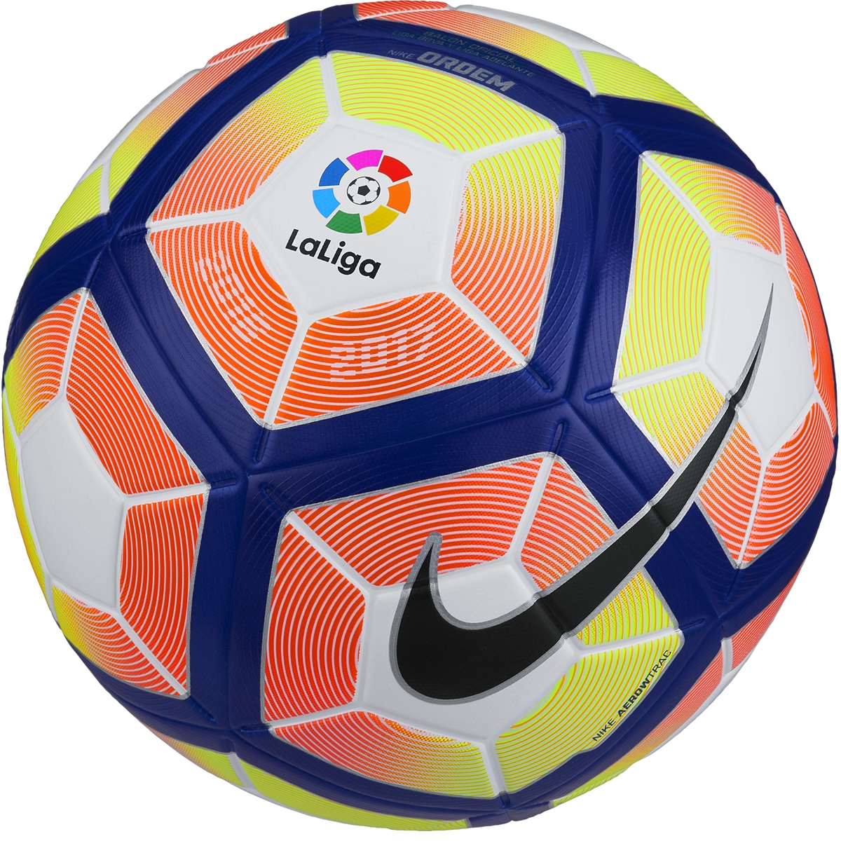 Soccer: Nike Ordem 4 Match La -Liga Soccer Ball In Yellow, Orange