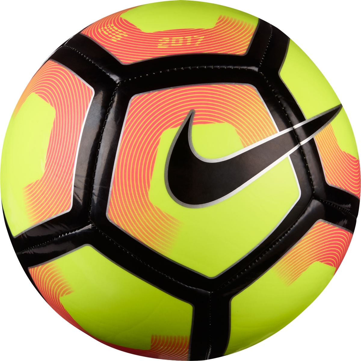 Nike Pitch Soccer Ball (Volt Pink Blast Black)  43456745a