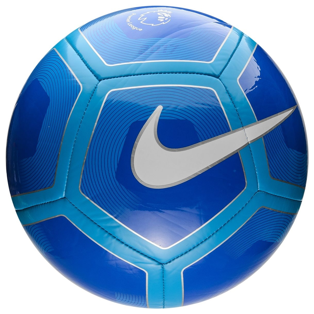 Nike Pitch EPL Soccer Ball (Royal Cyan White)  9b1cdf2340