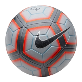 Nike Ordem 4 CR7 Soccer Ball (Wolf Grey/Total Crimson/Silver) | SC3041-012 |