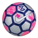 Nike FootballX Duro Reflect Soccer Ball (Reflect Silver/Pink Blast/White)