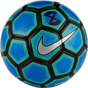 Nike FootballX Duro Soccer Ball (Photo Blue/Electro Green/Silver)