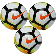 Nike Ordem V Soccer Ball 3 Pack (White/Laser Orange/Black/Black) | Nike SC3128-100 |