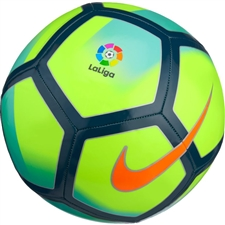 Nike La Liga Pitch Soccer Ball (Volt/Total Orange/Seaweed/Turquoise)