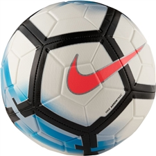 Nike Strike Soccer Ball (White/Blue Orbit/Black/Hot Punch)