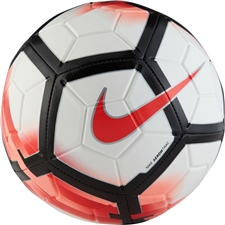 Nike Strike Soccer Ball (White/University Red/Bright Crimson)
