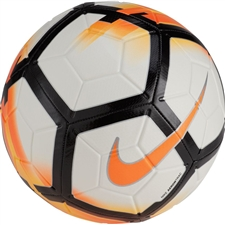 Nike Strike Soccer Ball (White/Total Orange/Black)