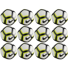 Nike Team Strike Soccer Ball 12 Pack (White/Volt/Black)