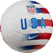 Nike USA Prestige Soccer Ball (White/University Red/Gym Blue)