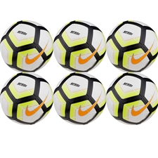 Nike Magia Team NFHS Soccer Ball 6 Pack (White/Black/Volt/Bright Citrus)