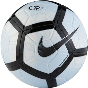 Nike CR7 Prestige Soccer Ball (White/Black/Blue Tint)