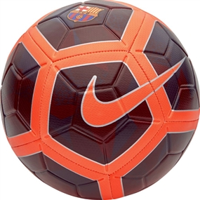 Nike FC Barcelona Strike Soccer Ball (Night Maroon/Hyper Crimson)