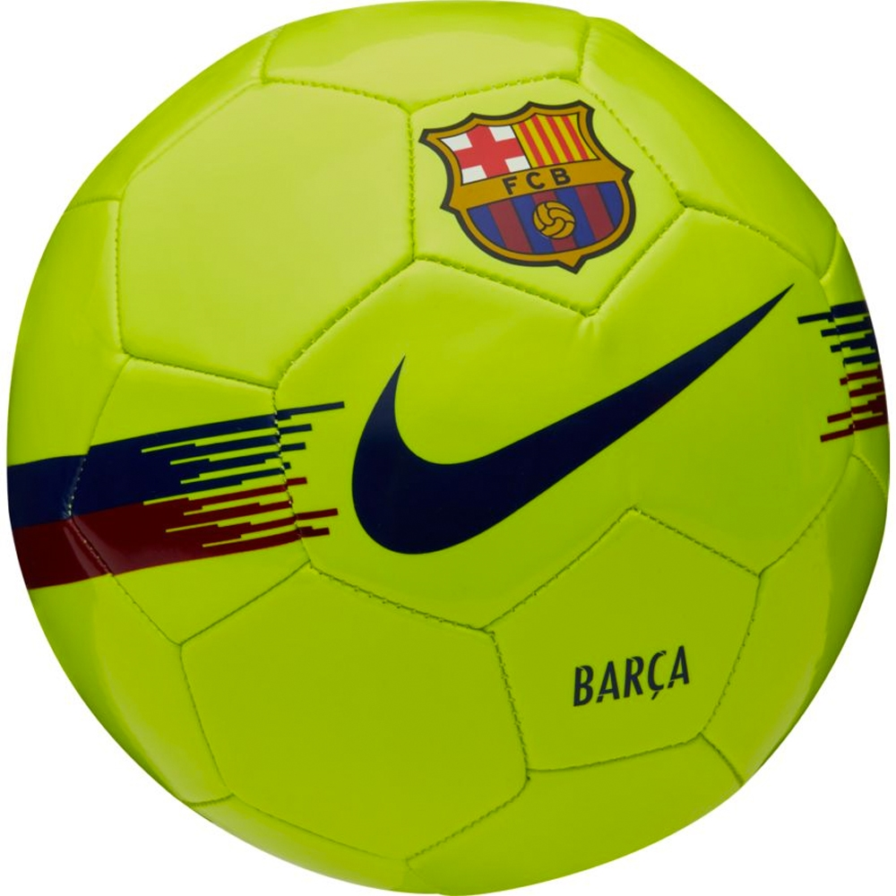 Nike FC Barcelona Supporters Soccer Ball (Volt Noble Red Deep Royal ... 889cee8014684