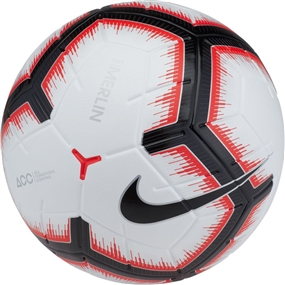 Nike Merlin Soccer Ball (White/Bright Crimson/Black)