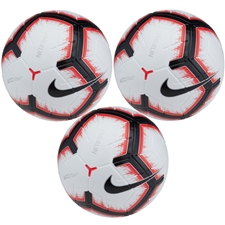 Nike Merlin Soccer Ball 3 Pack (White/Bright Crimson/Black)