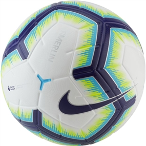 Nike Premier League Merlin Soccer Ball (White/Blue/Purple)