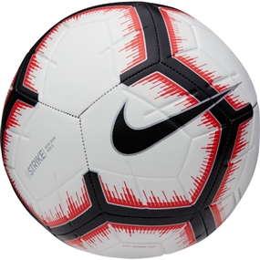 Nike Strike Soccer Ball (White/Bright Crimson/Black)