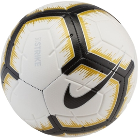 Nike Strike Soccer Ball (White/Black/Metallic Vivid Gold)
